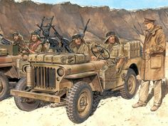 SAS Jeep Raiders in North Africa