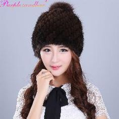 aeb1d584af679   23% OFF   Purple Sandbar Fur Fahion Winter Warm Women Knitting Caps Mink  Hats