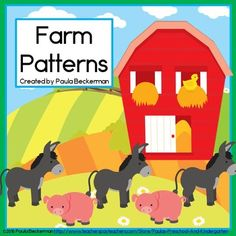 Down on the farm fun! This hands on farm animal activity will completely engage your preschool and kindergarten kiddos as they work with AB, ABC, and ABB patterns. TpT $