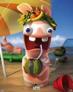 Raving Rabbids poster Summer http://www.abystyle-studio.com/en/raving-rabbids-posters/252-raving-rabbids-poster-summer.html