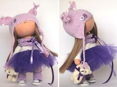 Amor muñeca muñeca de tela color violeta de por AnnKirillartPlace