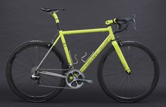 Baum Cycles: Neon Blue and Green Corretto Road Bikes