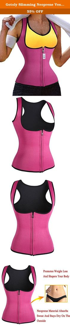 Gotoly Slimming Neoprene Vest Hot Sweat Shirt Body Shapers for Smooth Muffin Top (2XL, Rose). The Shaper is made of high-tech Neoprene fibers that increase body heat while in contact with the skin. 1.Promotes weight loss by preserving body heat and stimulating water loss during exercise. 2. It's unique fibers and material produce higher compression resulting in more sweating.The Shaper inner layers increase body temperature and sweat while its outer layer is super absorbent,.. (weight loss…