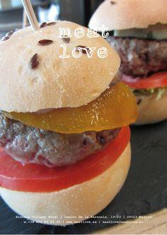 meat love | mini hamburguesas de 50 gr/ud.: ¡gorgonzola, bourbon y roast-beef! ¡la elección perfecta para compartir!