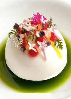 Crab, lilac, rhubarb, chervil at Chicago's Alinea  (Source:Christian Seel)