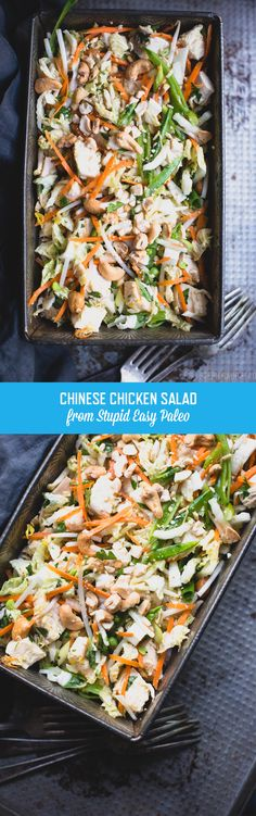 This Chinese Chicken Salad makes an easy pack-ahead lunch, and it's loaded with crispy veggies, healthy protein, and tasty dressing. Paleo Recipes, Asian Recipes, Real Food Recipes, Cooking Recipes, Lunch Recipes, Paleo Whole 30, Whole 30 Recipes, Clean Eating Diet, Healthy Eating