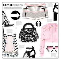 """""""Prints Charming: A Shorts Story"""" by dorinela-hamamci ❤ liked on Polyvore featuring Opening Ceremony, Proenza Schouler, Markus Lupfer and Moschino"""