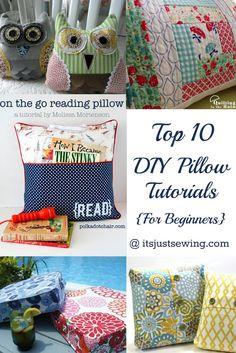 Top 10 DIY Pillow Tutorials for Beginners | www.itsjustsewing.com