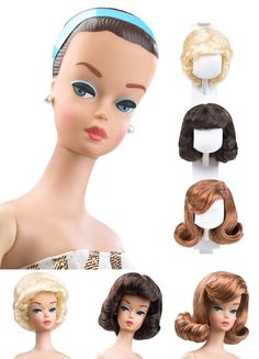 Barbie that came with wigs. She was cool. mattel dolls