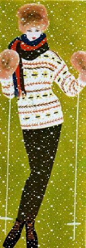 Illustrated ski fashion, Jardin des Modes December 1960   The House of Beccaria~