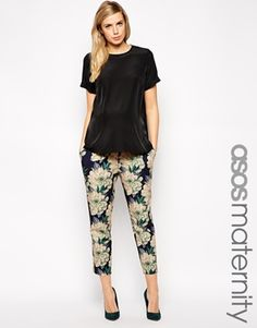 ASOS Maternity Exclusive Peg Trouser in Vintage Floral