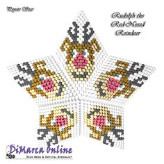 TUTORIAL REINDEER 3D PEYOTE STAR + Basic Instructions Little 3D Peyote Star This beading pattern provides a colour diagram and text to create the Reindeer 3D Peyote Star. Included are also the step by step instructions with clear 3D images of how to create a 3D Star in peyote: Little