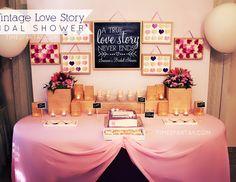 "Love / Romance / Bridal/Wedding Shower ""A Vintage Love Story Bridal Shower""   Catch My Party"