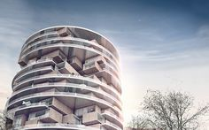 conceived in the context of tehran, iran, the cylindrical form adds to the list of high-rise developments transforming the area from orchards to urban.