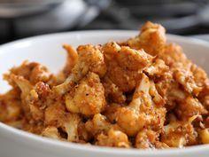 Video: sauteed cauliflower w/ roasted red pepper sauce | http://ohmyveggies.com