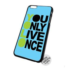 Buy Brand New You Only Once Yolo Blue Quotes At Low Prices And High Quality!Show off your personal style by protecting your iPhone with a custom case from VISTACUSTOMS! Whether you're looking for a case that is incredibly cute or a cov...