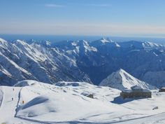 View from the top - Monterosa, Italy