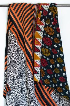 Kantha blankets are six layers of vintage saris, hand-stitched together by women in Bangladesh using a traditional kantha stitch. - Made of 100% reclaimed cotton sari cloth - Spreads are approximately