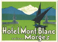 A selection of vintage luggage labels and stickers, featuring snow and mountains Vintage Luggage, Vintage Travel, Vintage Hotels, Luggage Labels, Lost Art, Grand Hotel, Travel Posters, Switzerland