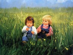 painting of children | and Flowers , Donald Zolan Painting Wallpaper 10 painting_children ...