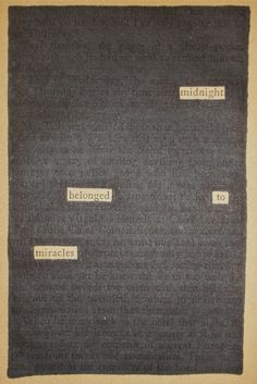 Midnight | Black Out Poetry