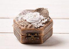 Small Ring Holder Engagement Box Ring Box by HandmadeDecoupage, Wedding Gift Boxes, Wedding Ring Box, Wedding Ring Designs, Wedding Ideas, Ring Set, Ring Verlobung, Engagement Box, Wooden Ring Box, Ring Bearer Box