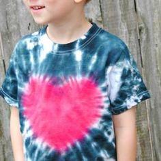 Heart Tie Dye T shirt Tutorial - so easy!