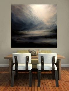 Large Canvas Original Abstracted Seascape by SimonkennysPaintings