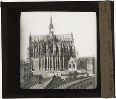[Plaque de verre du fonds Colbert | EHNE]  Cologne, vue arrière de la cathédrale
