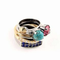 Multi color riing / ShopStyle: IOSSELLIANI Ring