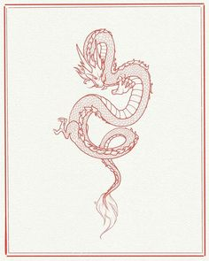 Borneo tattoos red japanese dragon tattoo japanese d Cute Dragon Tattoo, Small Dragon Tattoos, Dragon Tattoo For Women, Japanese Dragon Tattoos, Dragon Tattoo Designs, Small Tattoos, Dragon Tattoo Drawing, Chinese Tattoos, Tattoo Drawings