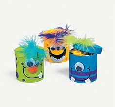 Colorful Magic Color Scratch Fall Leaves(pack of Monster Inc Party, Monster Birthday Parties, 1st Boy Birthday, Foam Crafts, Diy And Crafts, Crafts For Kids, Dulceros Halloween, Monster Treats, Happy B Day