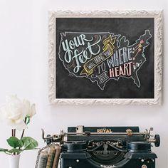 USA Map - Print