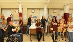 Cobber athletes + liberal arts classroom = #cordmn win. This year, nine of 31 junior year nursing students are involved in varsity athletics.