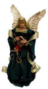 "Your Wholesale Dropship Source - 12 Greene Crepe Angel Christmas Tree Topper12"" Greene Crepe Angel Christmas Tree Topper - Beautiful details and quality you will truly enjoy for years to come! Vinyl mold injection inner cone base will support this angel atop your Christmas tree season after season. Made of fabric and handpainted vinyl head and hands."