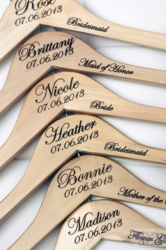 Personalized Hangers by Delovely Details /// coupon for 20% off via Designs by Nicolina's blog valid - Aug 31st