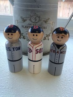 Custom painted Major League Baseball Players or NFL by Pegatopia