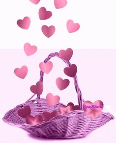 Animated Basket of Pink Hearts valentine's day happy valentine's day graphics valentine gifs Valentines Gif, Happy Valentines Day, Homemade Valentines, Valentine Box, Valentine Wreath, Valentine Ideas, Valentine Crafts, Animated Heart, Animated Gif