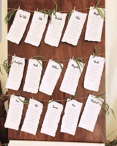 We created this table plan, making our own deckled paper. Bae, Wedding Stationary, Table Plans, How To Plan, How To Make, Wedding Events, Plan De Tables