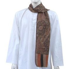 Pashmina Scarf Vintage Mens Accessories Handcrafted in India 12 x 60 inches