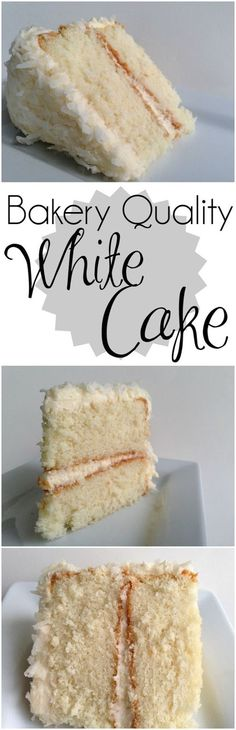Bakery Quality White Cake With Buttercream Frosting Foodgazm