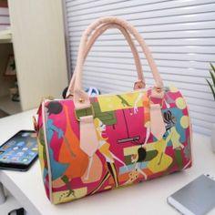 New Trendy Faux Leather Baguette Print Lady's Handbag Shoulder Bag | eBay