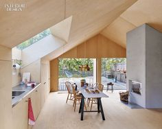 Awesome Plywood Interior Skylight Kitchen Dining Room Photography By James Silverman Plywood House, Plywood Walls, Plywood Ceiling, Plywood Furniture, Small Lounge, Lounge Areas, Small Sofa, Interior Design Magazine, Plywood Interior