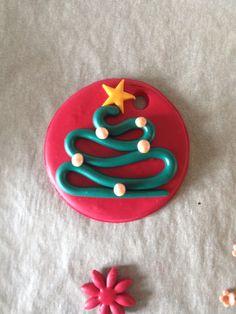 Addobbo Albero di Natale in fimo