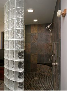 Frosted Glass Blocks Bathroom New Glass Block Shower Traditional Bathroom Cleveland by Glass Bathroom, Bathroom Wall Decor, Small Bathroom, Basement Bathroom, Design Bathroom, Bathroom Ideas, Shower Bathroom, Bathroom Images, Modern Bathrooms
