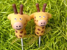 A selection of cake pops for a Noah's Ark or Safari theme