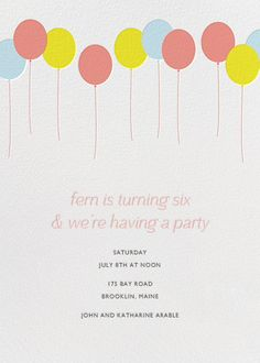 Balloons New By Paperless Post Online Invitations For Kids Birthdays Made With