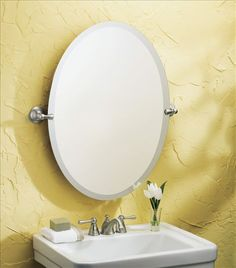 hanging an oval mirror without a frame mirrors mirrored doors