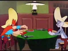 Bugs Bunny and Yosemite Sam