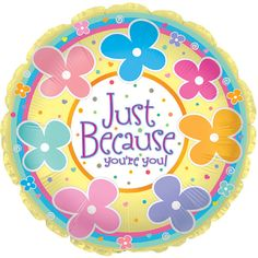 "17"" Just Because You''re You Foil Balloon/Case of 5 Tags: Just Because Youupperstrre You; Foil Balloon; Baby Shower Decoration; baby shower party ideas;baby shower foil balloon;baby shower party decorations;baby shower decorations; https://www.ktsupply.com/products/32786350916/17doublequote-Just-Because-Youupperstrre-You-Foil-BalloonCase-of-5.html"